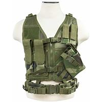 Image of NcSTAR Vism Tactical Vest, Fits X-Small to Small, Woodland Camo