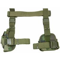 Image of NcSTAR Vism 3 Piece Right Handed Drop Leg Holster and Mag Pouch, Woodland Camo
