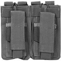 Image of NcSTAR Vism Double Magazine Pouch for all Caliber Rifle & Handguns, Urban Gray