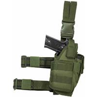 Image of NcSTAR Vism Drop Leg Tactical Holster for Semi-Auto Pistols, Right Handed, Green