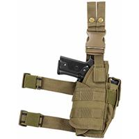 Image of NcSTAR Vism Drop Leg Right Hand Tactical Holster, for Full Size and Compact Semi-Auto Pistols, Tan