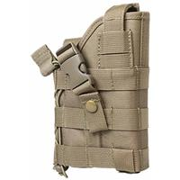 Image of NcSTAR Vism Ambidextrous Modular MOLLE Holster for Full Size and Compact Semi-Autos with or without Tactical Flashlights/Lasers, Tan