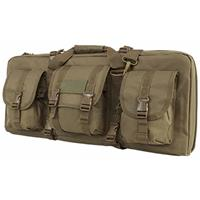 """Image of NcSTAR Vism 28"""" Deluxe Soft Padded Double Pistol Carbine Case for Subgun, AR and AK Guns, Tan"""