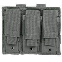 Image of NcSTAR Vism Triple Pistol Mag Pouch, Holds 3 Each Standard Capacity Double Stack Pistol Magazines, Urban Gray