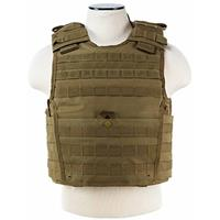 """Image of NcSTAR Vism Expert Plate Carrier Vest with 11x14"""" Armor Plate Pocket, Fits Medium to 2XL, Tan"""