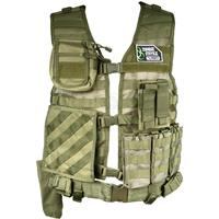 Image of NcSTAR Vism Zombie Rezurrection Alpha Kit with Vest, MOLLE Panel, 4 Pouches, Green