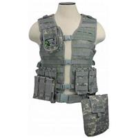 """Image of NcSTAR Vism Zombie Stryke """"Zombat"""" Charlie Kit with Vest/5 Pouches, Digital Camo"""