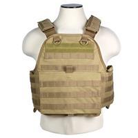 Image of NcSTAR Vism Plate Carrier Vest, Fits Medium to 2X-Large, Tan