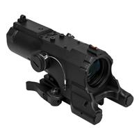Image of NcSTAR Vism 4x34 ECO MOD2 Riflescope, Matte Black with Blue & Red Illuminated Urban Tactical Reticle, Integrated Picatinny Mount