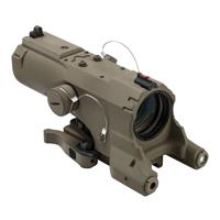 Image of NcSTAR Vism 4x34 ECO MOD2 Riflescope, Matte Tan with Blue Illuminated Urban Tactical Reticle, Integrated Green Laser, Navigation LED Light & Picatinny Mount
