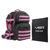 """Compare Prices Of  NcSTAR Vism Tactical Backpack with 10x12"""" Soft Ballistic Panel, Black with Pink Trim"""