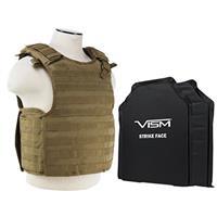 "Image of NcSTAR Vism Quick Release Ballistic Plate Carrier Vest with 11x14"" Soft Panels, Fits Medium - 2XL, Tan"