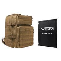 "Image of NcSTAR Vism Assault Backpack with 11x14"" Soft Ballistic Panel, Tan"