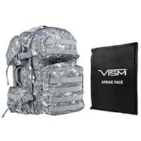 """Image of NcSTAR Vism Tactical Backpack with 10x12"""" Soft Ballistic Panel, Digital Camo"""