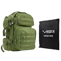 """Image of NcSTAR Vism Tactical Backpack with 10x12"""" Soft Ballistic Panel, Green"""
