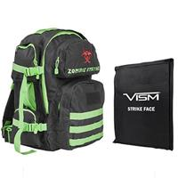 """Image of NcSTAR Vism Tactical Backpack with 10x12"""" Soft Ballistic Panel, Zombie Green"""