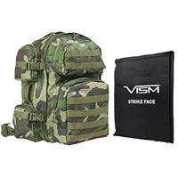 """Image of NcSTAR Vism Tactical Backpack with 10x12"""" Soft Ballistic Panel, Woodland Camo"""
