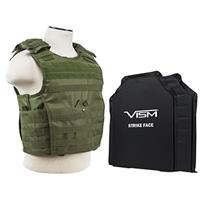 """Image of NcSTAR Vism Expert Ballistic Plate Carrier Vest with Two 11x14"""" Soft Panels, Fits Medium - 2XL, Green"""