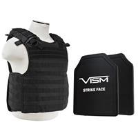 "Image of NcSTAR Vism Quick Release Ballistic Plate Carrier Vest with 11x14"" PE Hard Plates, Black"