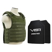 """Compare Prices Of  NcSTAR Vism Quick Release Ballistic Plate Carrier Vest with 11x14"""" PE Hard Plates, Green"""