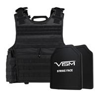 """Image of NcSTAR Vism Expert Ballistic Plate Carrier Vest with Two 11x14"""" PE Hard Plates, Fits 2X-Large+, Black"""