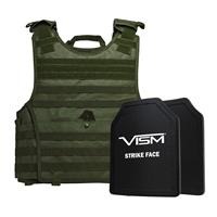"""Image of NcSTAR Vism Expert Ballistic Plate Carrier Vest with Two 11x14"""" PE Hard Plates, Fits 2X-Large+, Green"""