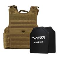 """Compare Prices Of  NcSTAR Vism Expert Ballistic Plate Carrier Vest with Two 11x14"""" PE Hard Plates, Fits 2X-Large+, Tan"""