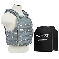"""Image of NcSTAR Vism Ballistic Plate Carrier Vest with Two 10x12"""" PE Hard Plates, Fits Medium to 2X-Large, Digital Camo"""
