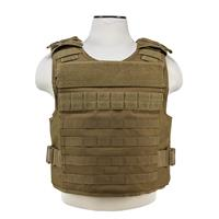 """Image of NcSTAR Vism Ballistic Plate Carrier Vest, Accepts Level III, Level IV 11x14"""" Hard Plates, Fits Medium to 2X-Large, Tan"""