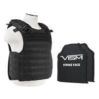 """Image of NcSTAR Vism Quick Release Ballistic Plate Carrier Vest with Two 10x12"""" Soft Panels, Fits Medium to 2X-Large, Black"""