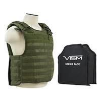 """Image of NcSTAR Vism Quick Release Ballistic Plate Carrier Vest with Two 10x12"""" Soft Panels, Fits Medium to 2X-Large, Green"""