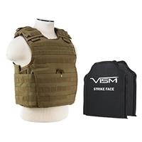 """Image of NcSTAR Vism Expert Ballistic Plate Carrier Vest with Two 10x12"""" Soft Panels, Fits Medium to 2X-Large, Tan"""