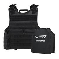 "Image of NcSTAR Vism Expert Ballistic Plate Carrier Vest with Two 10x12"" Soft Panels, Fits 2X-Large+, Black"