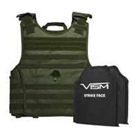 """Image of NcSTAR Vism Expert Ballistic Plate Carrier Vest with Two 10x12"""" Soft Panels, Fits 2X-Large+, Green"""