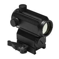 """Image of NcSTAR Vism 1x25 Micro Red & Blue Dot Reflex Optic with 3 MOA Dot Reticle, 1.7"""" H, Black"""