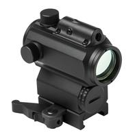 Image of NcSTAR Vism 1x25 Micro Red & Blue Dot Reflex Optic with 3 MOA Dot Reticle, Integrated Green Laser, Picatinny Mount, Black