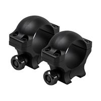 """Image of NcSTAR Vism 1"""" Hunter Rings with 3/8"""" Dovetail, 0.9"""" Height, 1 Pair, Matte Black"""