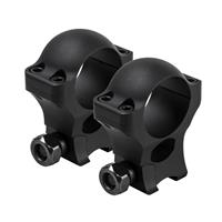 """Image of NcSTAR Vism 1"""" Hunter Rings with 3/8"""" Dovetail, 1.30"""" Height, 1 Pair, Matte Black"""