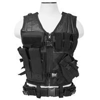 Image of NcSTAR Vism Tactical Vest, Adjustment Straps on Each Side for a Custom Fit, Black