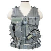 Image of NcSTAR Vism Tactical Vest, Smaller Size, Adjustment Straps on Each Side for a Custom Fit, Fits Medium to 2X-Large, Digital Camouflage