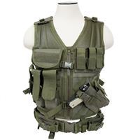Image of NcSTAR Vism Tactical Vest, Adjustment Straps on Each Side for a Custom Fit, Green