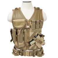 Image of NcSTAR Vism Tactical Vest, Adjustment Straps on Each Side for a Custom Fit, Tan