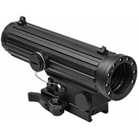 Image of NcSTAR 4x34 LIO Riflescope, Matte Black with Blue Illuminated Urban Tactical Reticle, Integrated Navigation Light, QR Picatinny Mount