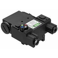 Image of NcSTAR Vism Designator Box with Green Laser and 4 Color Navigation LED Light, Quick Release Picatinny Mount, Black