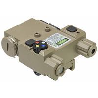 Image of NcSTAR Vism Green Laser Designator with 4 Color LED Navigation Lights, Locking Quick Release Picatinny Mount, Tan