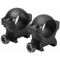 "Image of NcSTAR Vism Hunter Series 1"" Riflescope Mounting Rings, 0.9"" Optic Centerline Height, Pair, Matte Black"