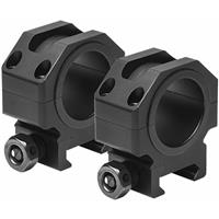 """Image of NcSTAR Vism Tactical Series 30mm Riflescope Mounting Rings with Removable 1"""" Inserts, 0.9"""" Optic Centerline Height, Pair, Matte Black"""
