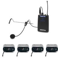VocoPro One Way Communication System for TV and Film Production, 4 Receivers, 900MHz