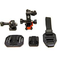 Image of Vivitar Action Pro Series All-in-1 Helmet Kit for GoPro & Action Cameras, Includes Curved Helmet Mount, Flat Surface Mount, Vented Helmet Mount