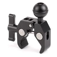 Image of Wooden Camera Super Clamp Ultra Arm Ball for 15mm Rods, 19mm Rods, Cruiser Handlebars and C-Stands